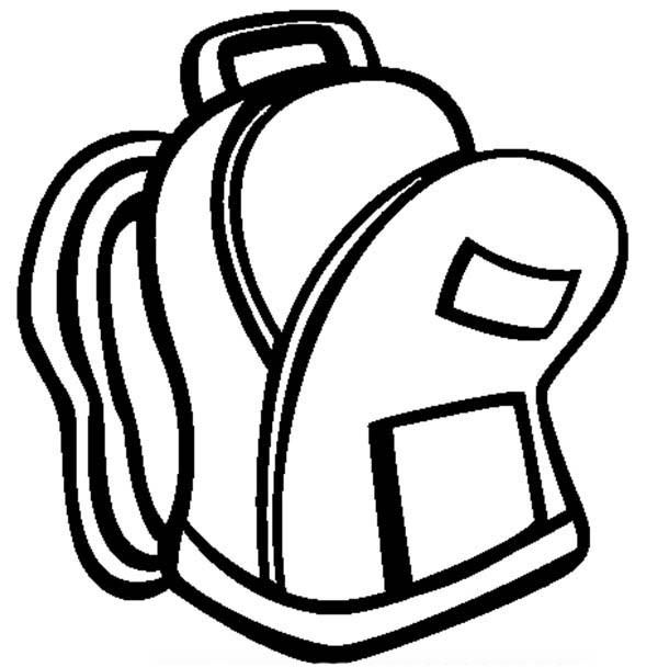 book bag clipart black and white - Clipground