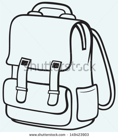 Book Bag Clipart Black And White Clipground