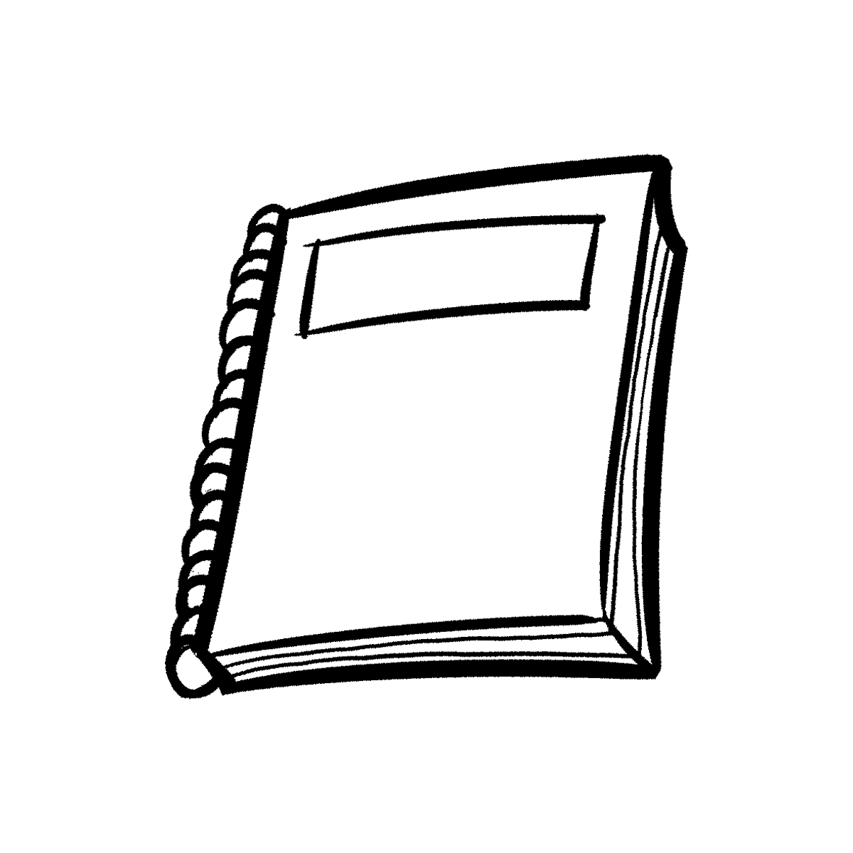 Note Book PNG Black And White Transparent Note Book Black And White.
