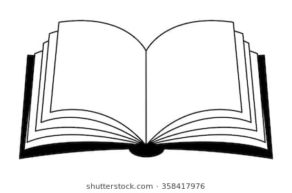 Similar Images, Stock Photos & Vectors Of Open Book Black White.