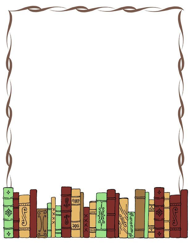 Book Border Clip Art Writingpaper Clip Art Misc Library Clipart.