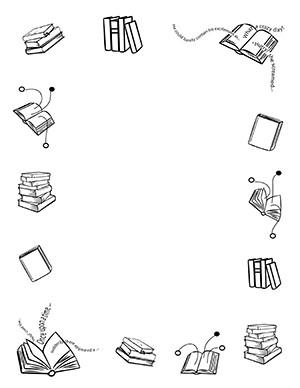 Books Portrait Blank Or Book Border Clip Art.