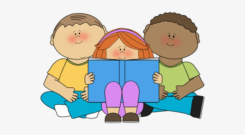 Kids Reading Clipart.