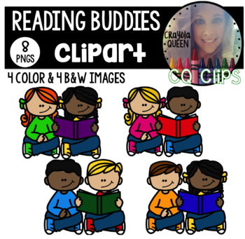 Reading Buddies Clipart FREEBIE.