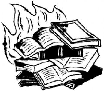 Books Burning Drawing.