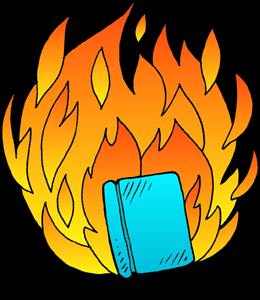 Burning books clipart 6 » Clipart Station.