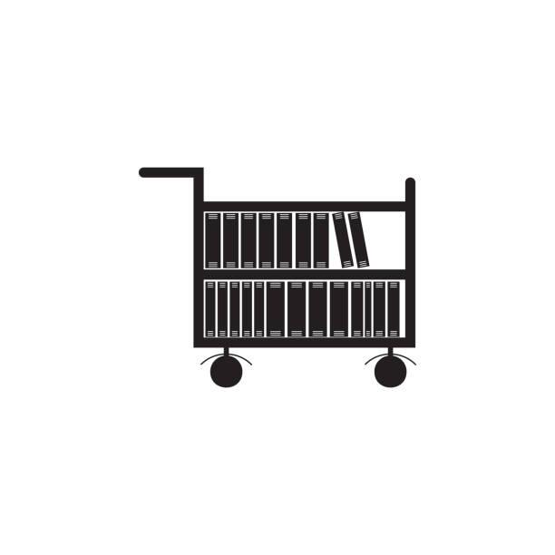 Best Book Cart Illustrations, Royalty.