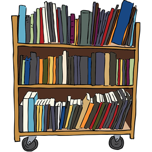 Download Free png Library Book Cart clipart, cl.