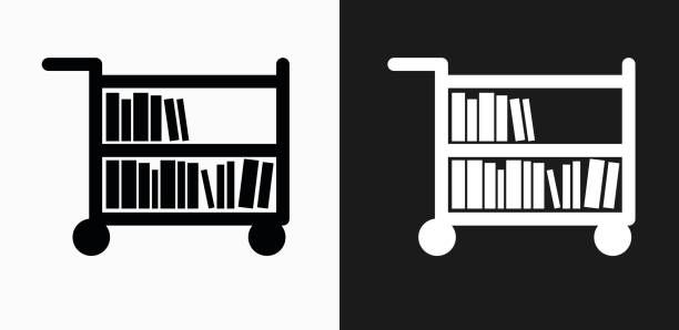 Image result for book cart clipart.