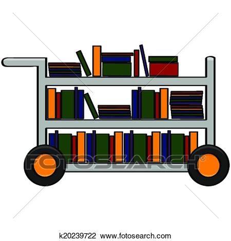 Library cart Clipart.