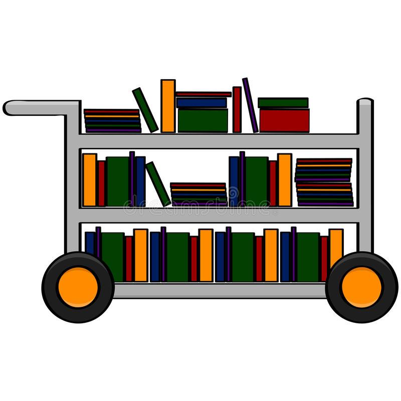 Librarian clipart book cart.