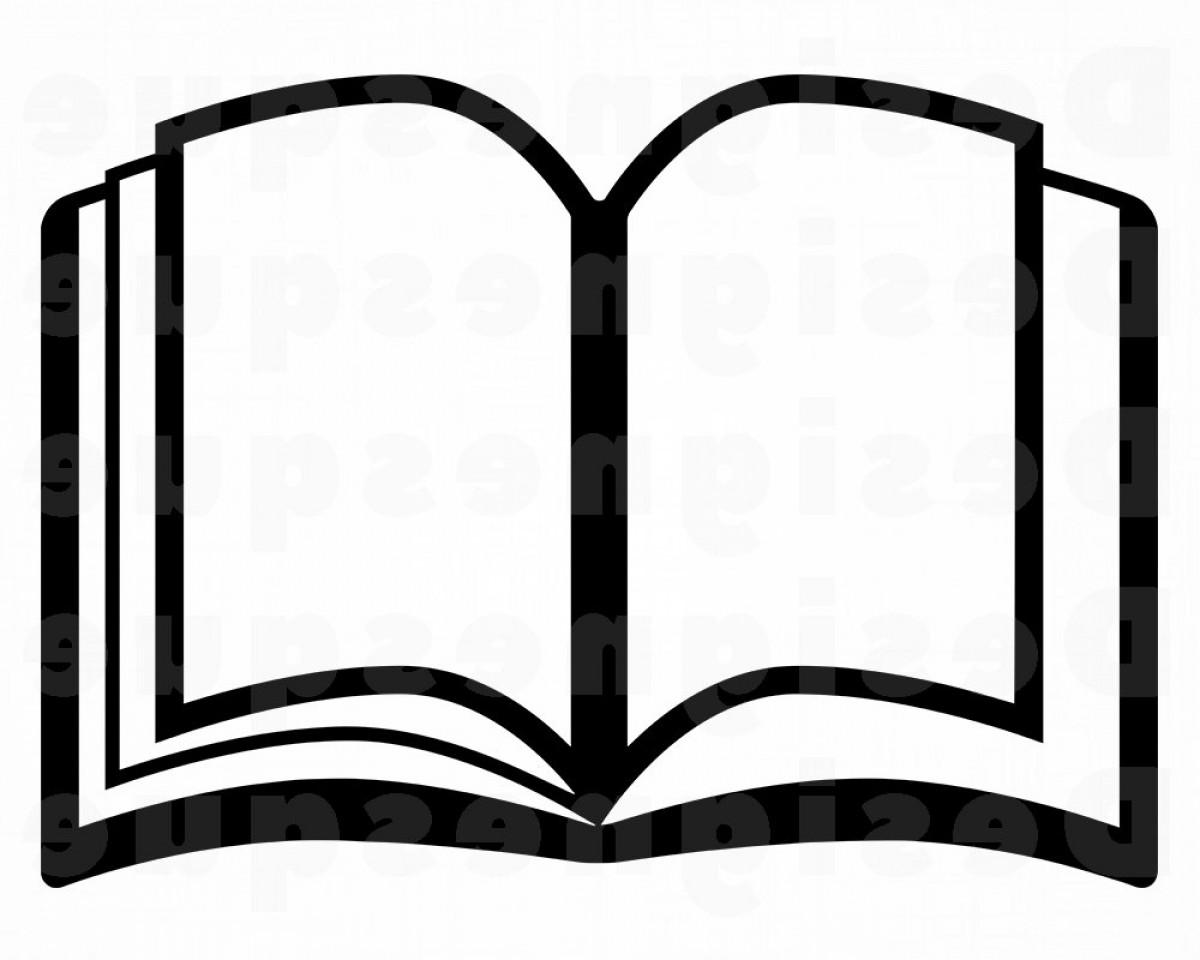 Book Svg Book Outline Svg Book Clipart.