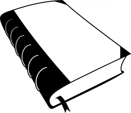 Best School Book Clipart Black and White #28684.
