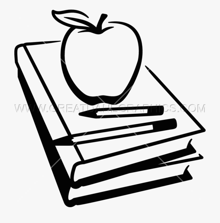 School Book Clipart Black And White.