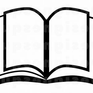 Png Open Book Black And White.