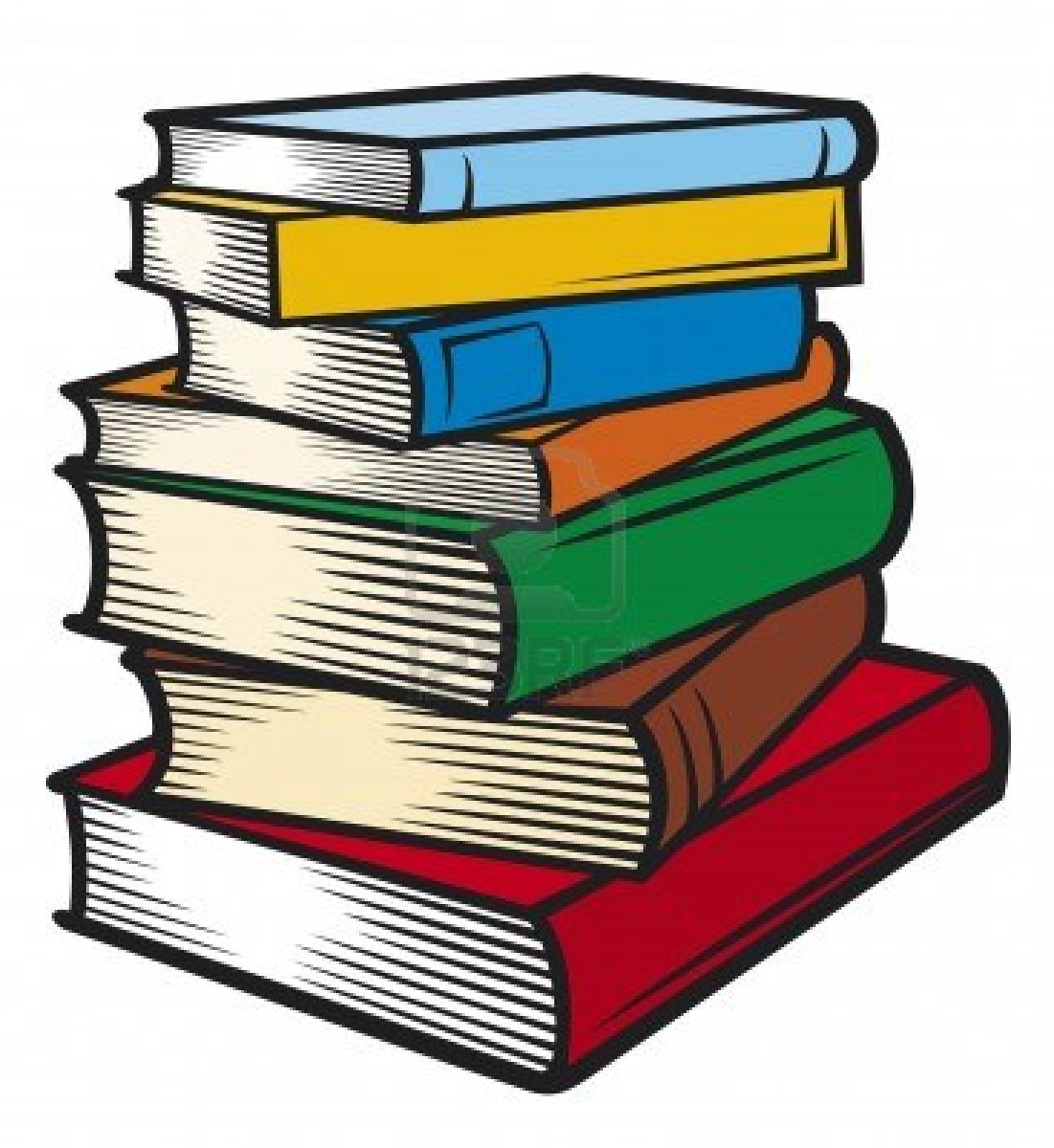 stack Pile of books clipart jpg.