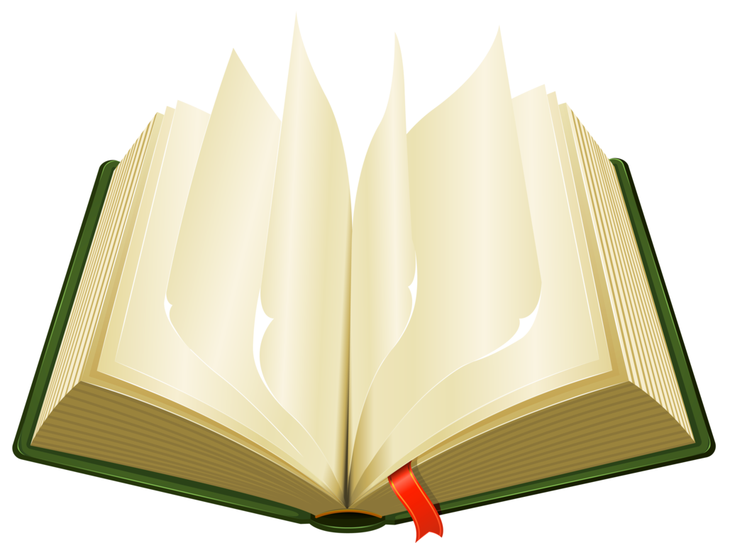 Open Green Book PNG ClipArt.