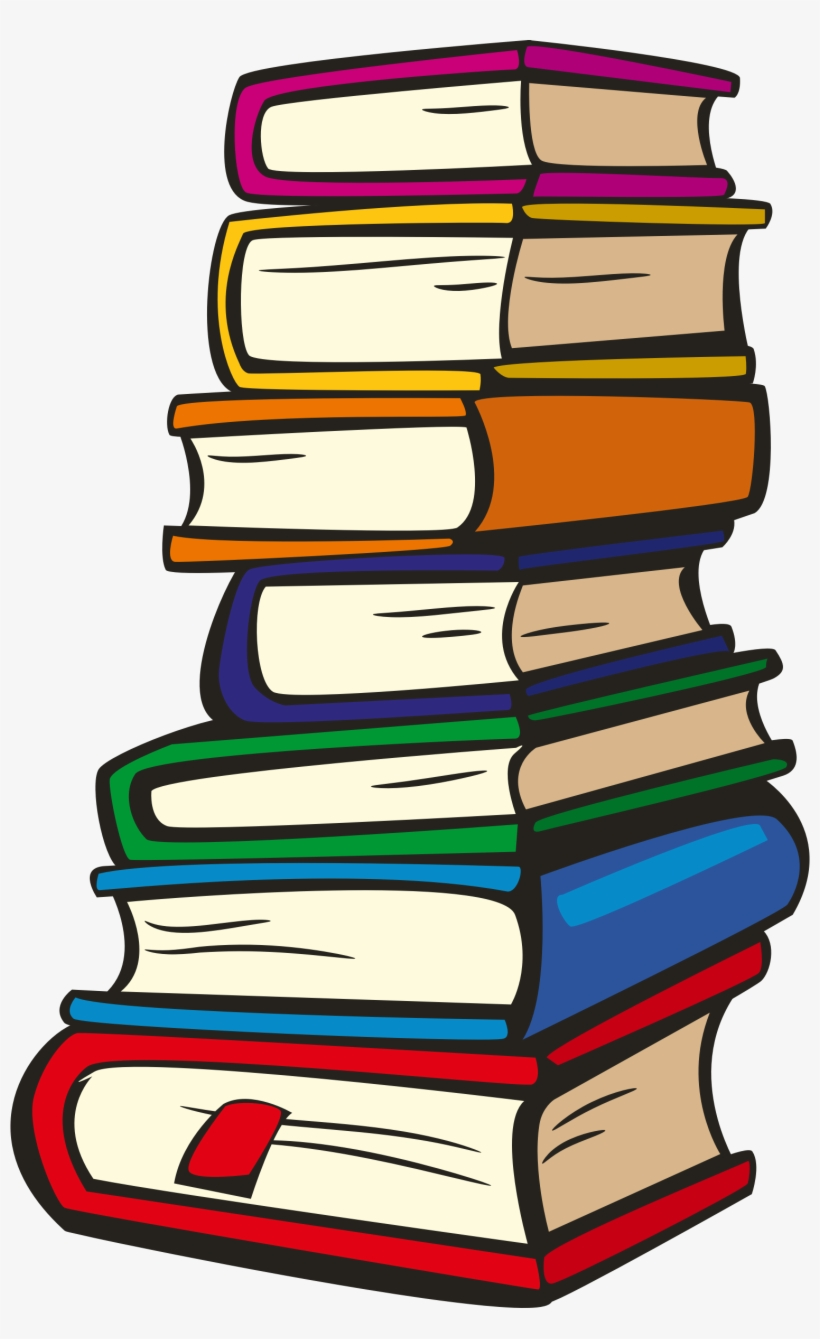 Stack Of Books Big Image Png.