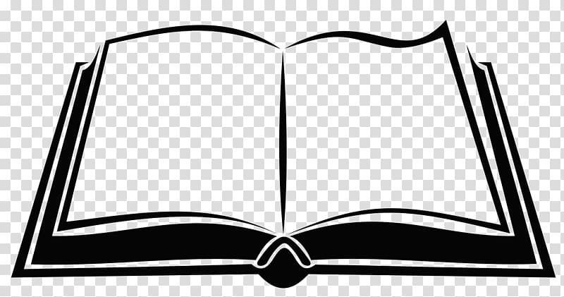 White book , Book Silhouette , open book transparent background PNG.