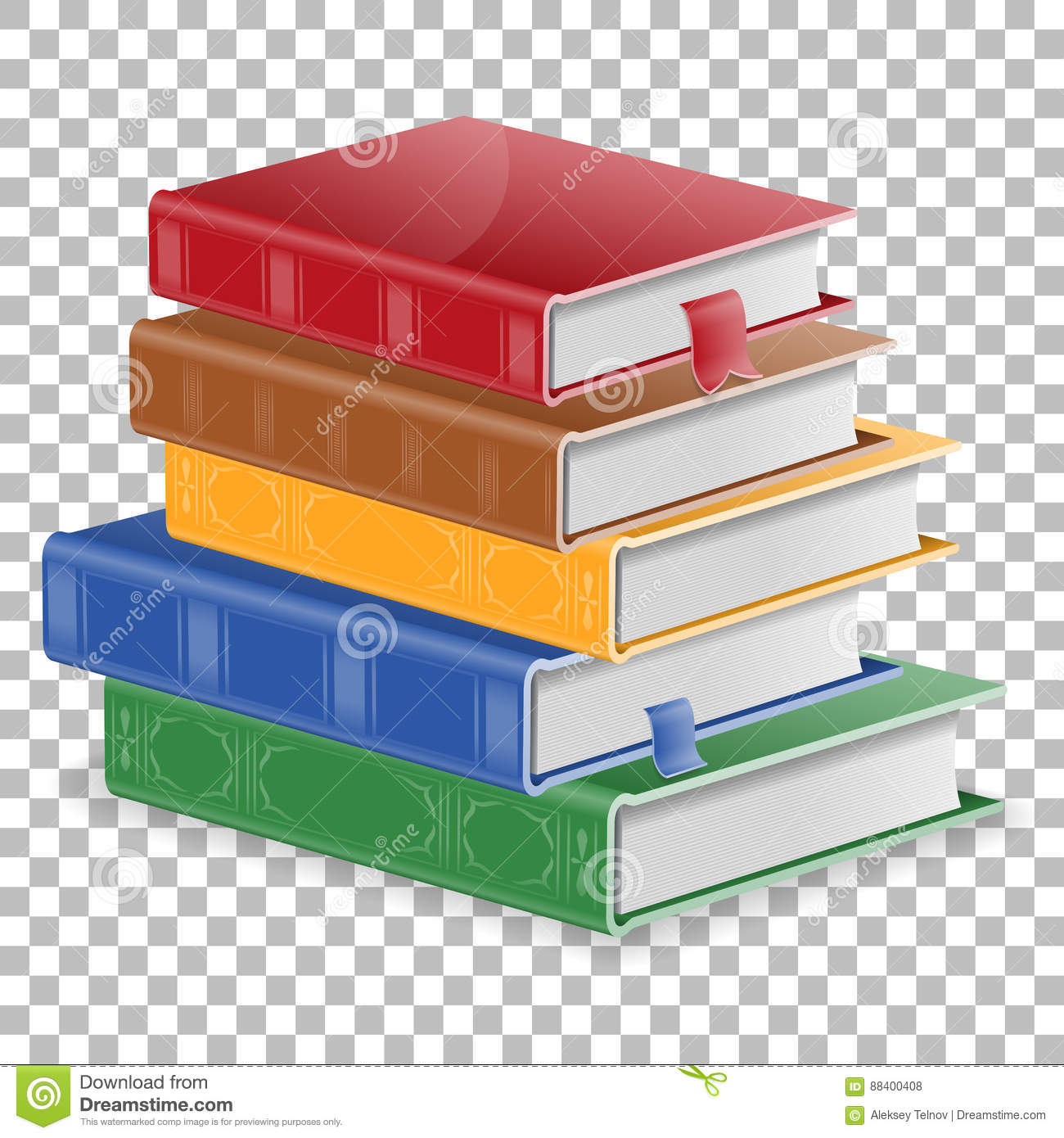 Education Concept With Books Stock Vector.