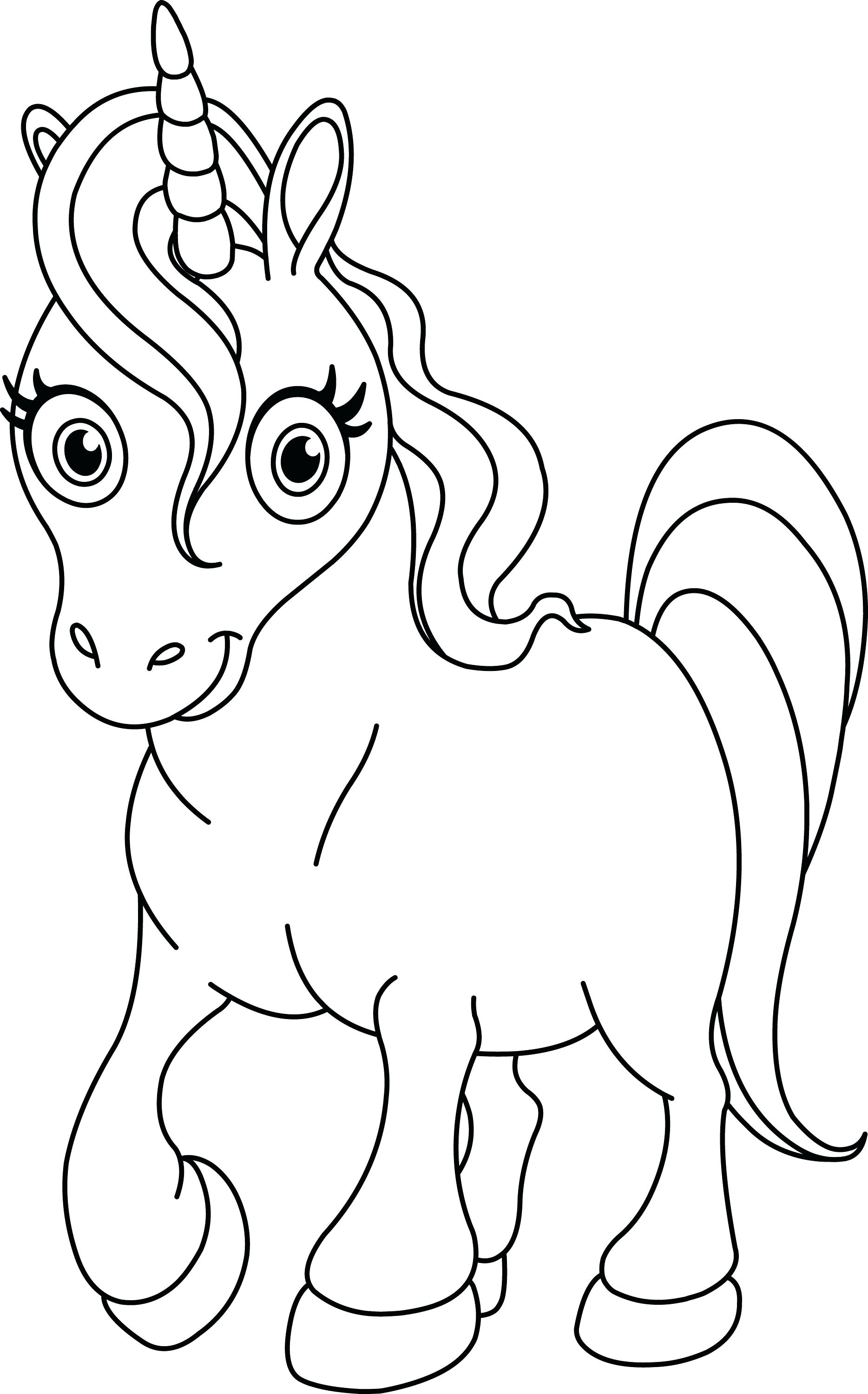 Kids Horse Book Unicorn To Color Clipart Kid Kids Disney Book.