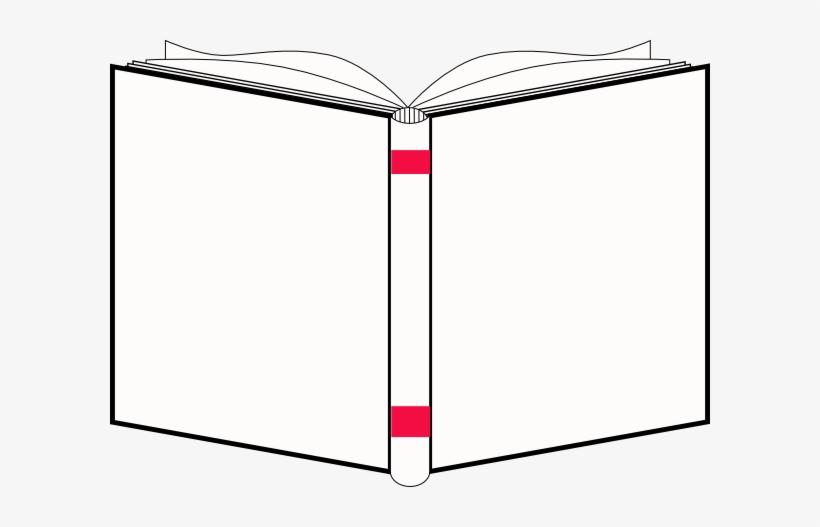 Open Book Openbook White Cover Clip Art At Clker Vector.