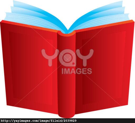 Open Book Cover Clip Art.