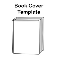 Free Blank Book Cover Template.