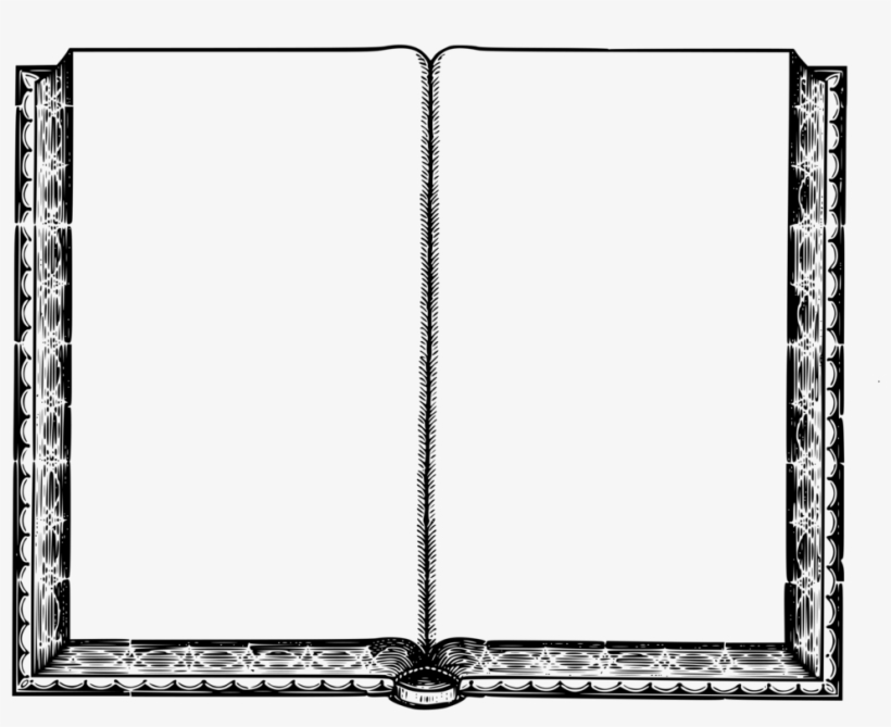 Empty Book Intentionally Blank Page Book Cover Coloring.