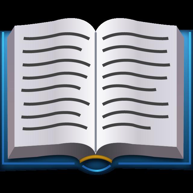 Download Open Book Emoji.
