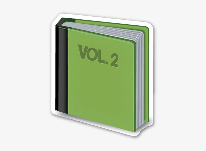 Green Book Emoji Stickers, Green Books, Les Matériels,.