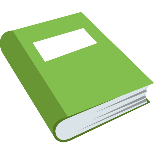 Green Book Emoji for Facebook, Email & SMS.