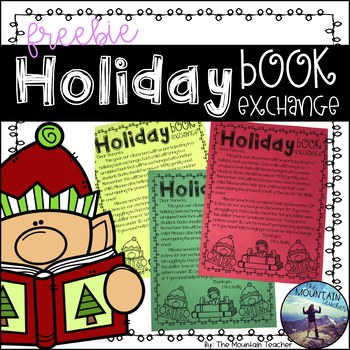 Holiday Book Exchange Clipart.