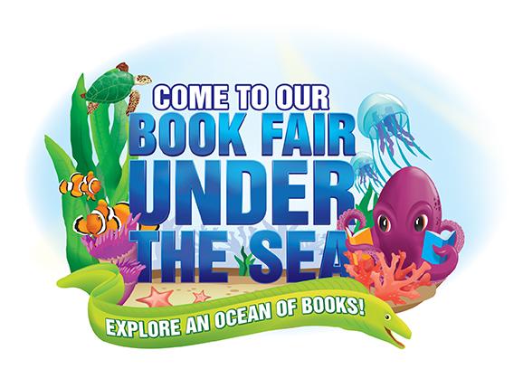 Under the sea book fair clipart.