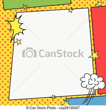Vectors of Comic book style frame illustration design csp29130437.