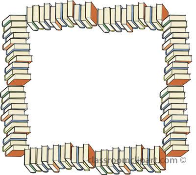 Clip art book border cliparts.