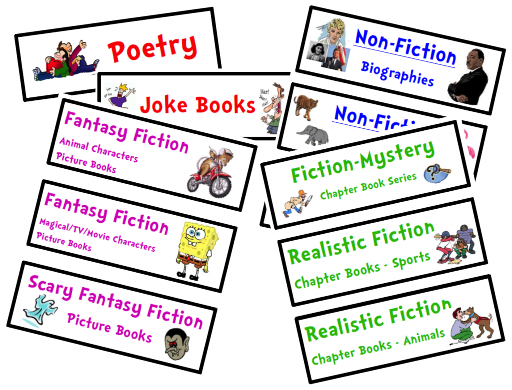 Book genre clipart.