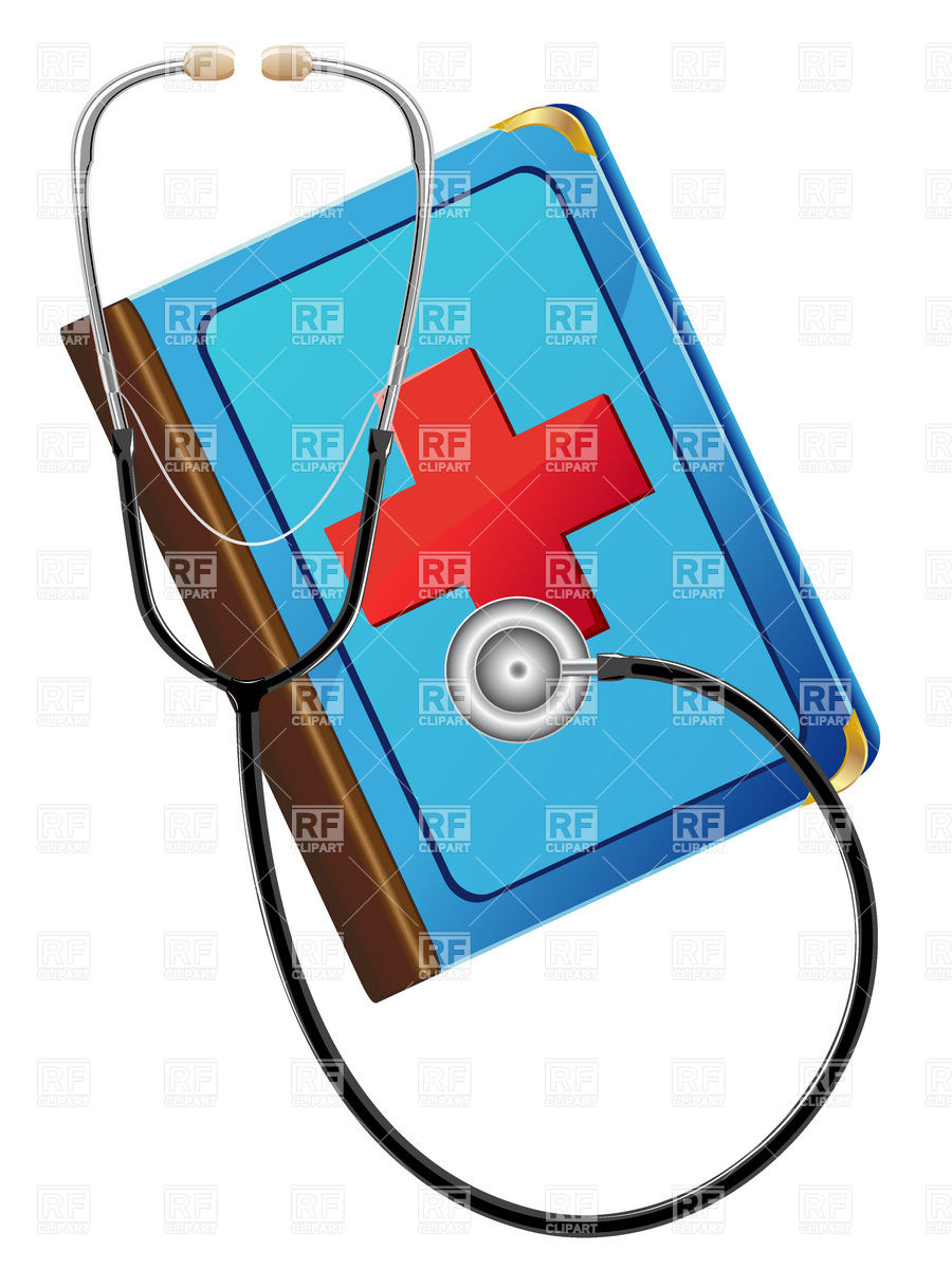 Medical book and stethoscope Vector Image #19556.