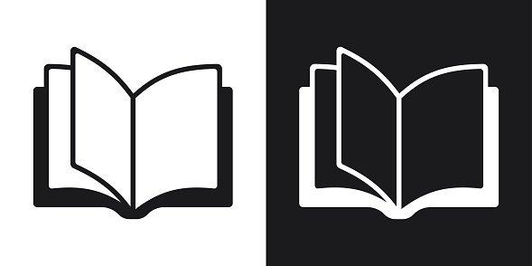 Open Book Icon, Two Tone Version premium clipart.