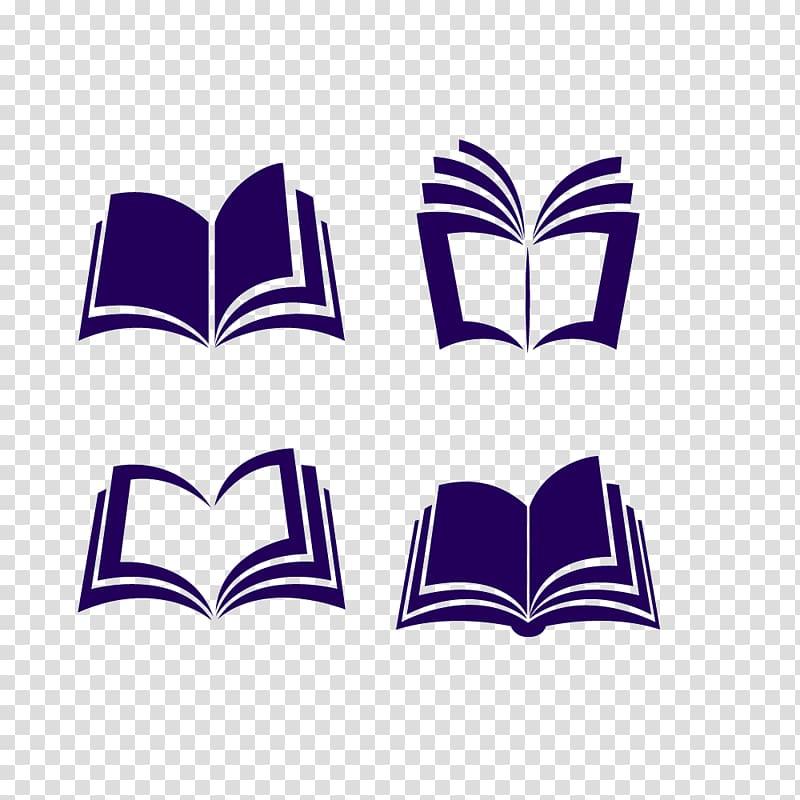 Open book , Book Euclidean Icon, Purple book icon transparent.
