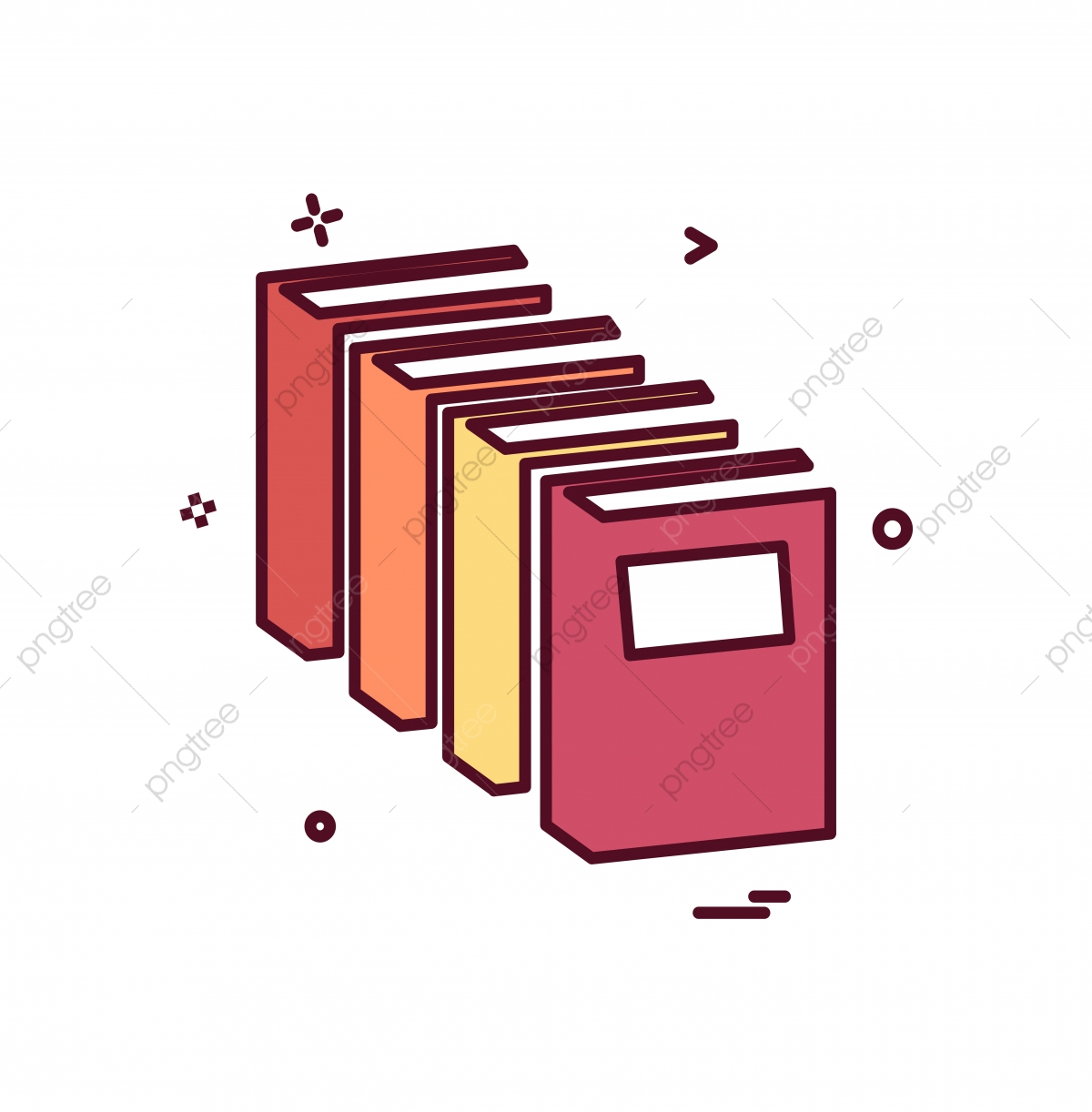 Books Icon Design Vector, Book, Icon, Illustration PNG and Vector.