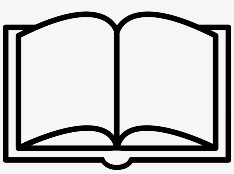 Book Opened Outline From Top View Svg Png Icon Free.