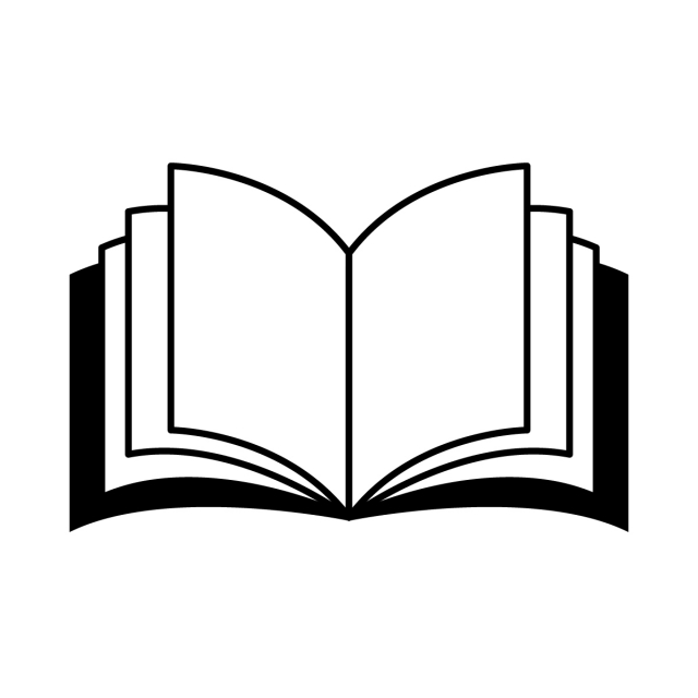 Book Icon, Black, Diary, Shape PNG and Vector with Transparent.