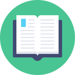 Open Book Icon Flat.
