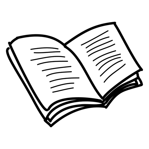 Hand drawn open book.