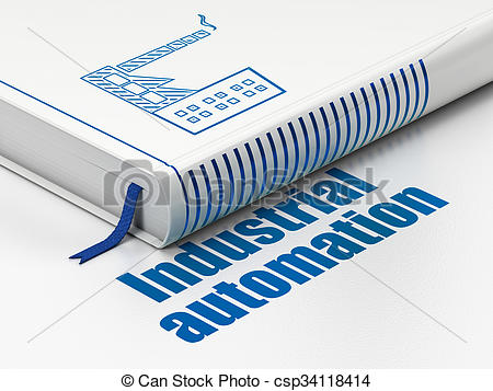 Clipart of Industry concept: book Industry Building, Industrial.