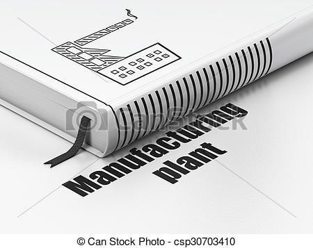 Clipart of Industry concept: book Industry Building, Manufacturing.