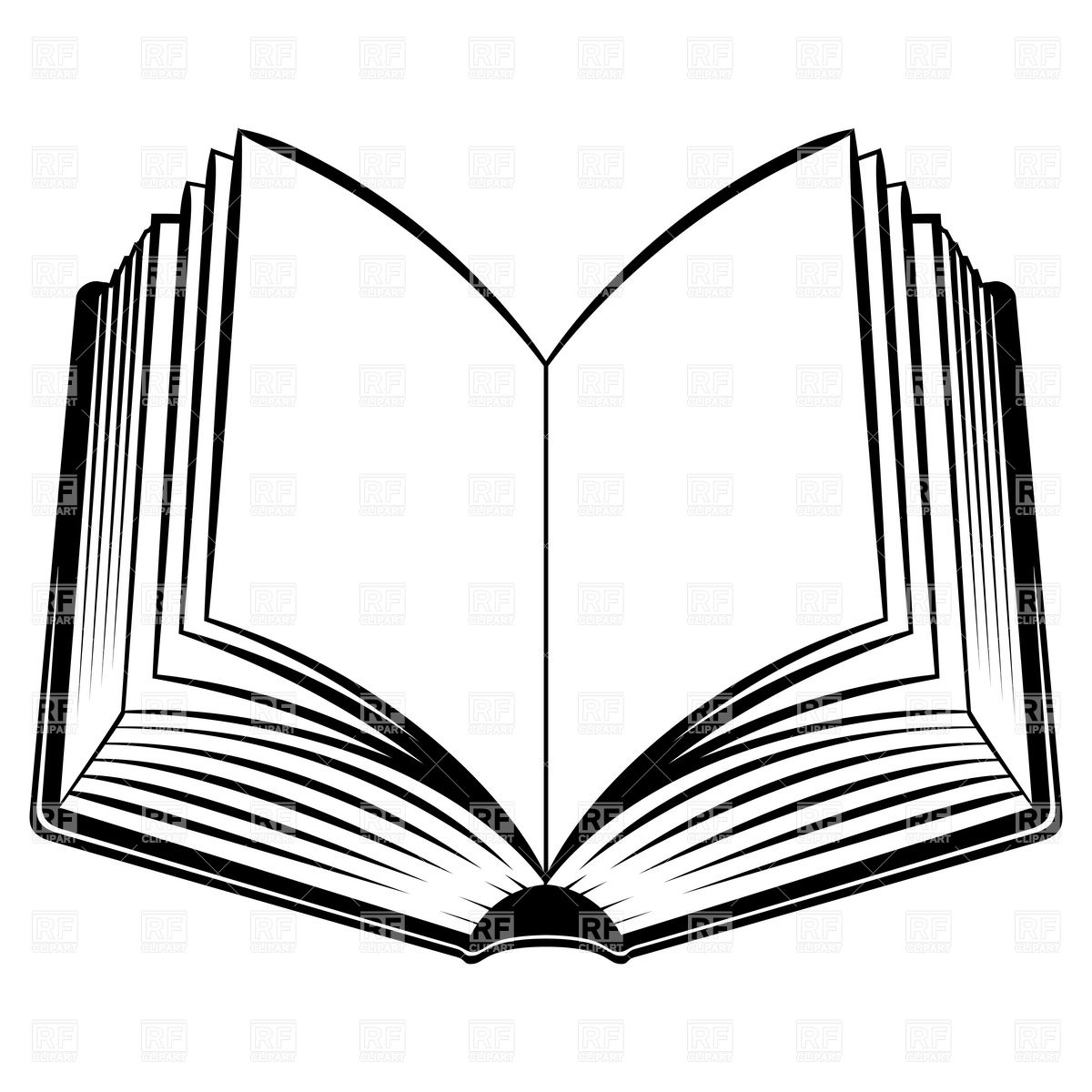 Simple Open Book Stock Vector Image.