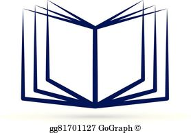 Open Book Design Logo Clip Art.