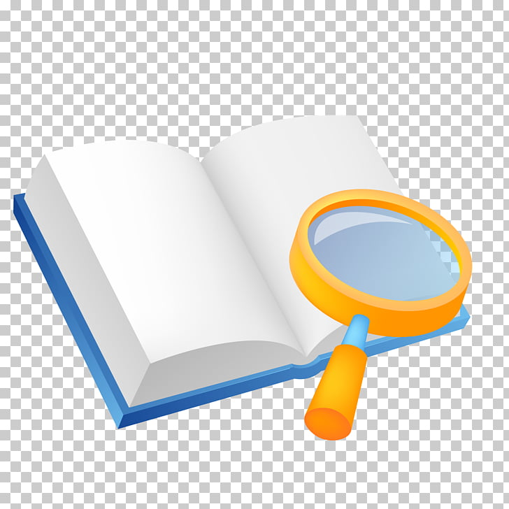 Magnifying glass Computer file, Cartoon book magnifying.